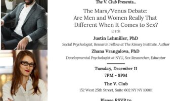 Are Men And Women Really That Different When It Comes To Sex? Join Me For a Course on the Mars/Venus Debate