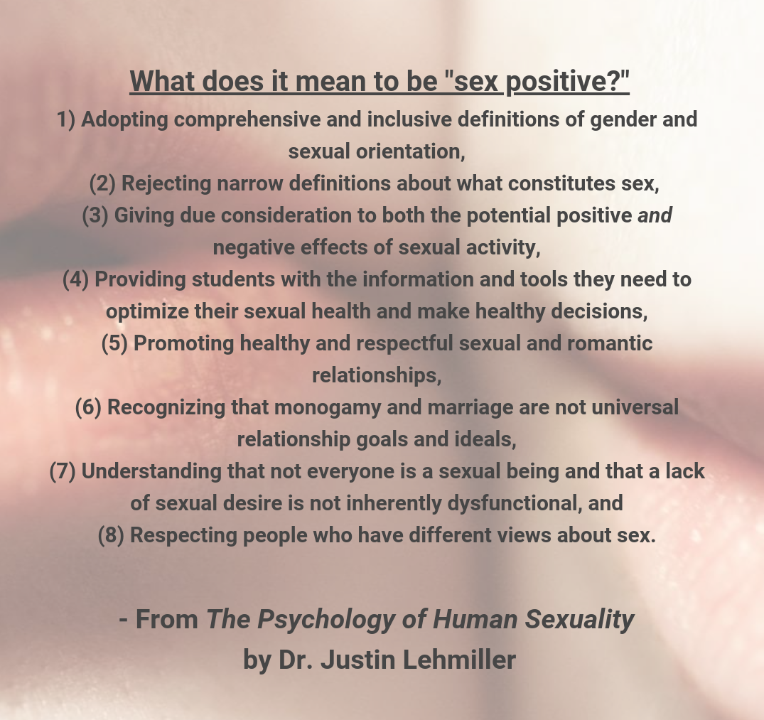 What Does It Mean To Be Sex Positive?