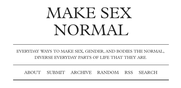 Making Sex Normal (VIDEO)